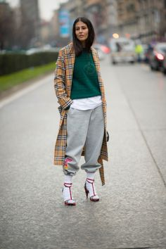 How to Wear Socks with Heels—the Street Style Way | StyleCaster Fashion 101, Autumn Fashion, Fashion Addict, Street Style Edgy, Milano Fashion Week, Socks And Heels, Sport Chic, Fashion Company, Latest Trends