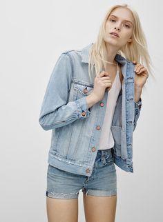 The New Way To Wear A Denim Jacket. The Castings Boyfriend Jacket