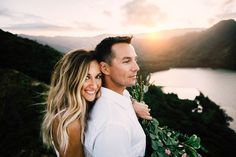 Adventure destination wedding / elopements are my favorite to photograph! I love this boho bride & the Hawaii backdrop! Seattle San Luis Obispo Wedding Photography! Wanderlust Mountain Wedding