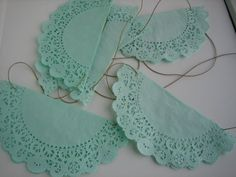 Hand dyed Doily banner