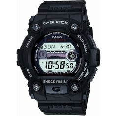 Casio - Men's G-Shock Black Rubber Strap Chrono Watch - GW-7900-1ER  RRP: £120.00 Online price: £89.95 You Save: £30.05 (25%)  www.lingraywatches.co.uk