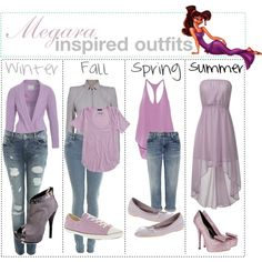 """""""Megara inspired outfits :)"""" by shannonstyles on Polyvore"""