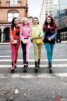 Little mix are so pretty the way they all have their own colors and outfits that totally show their personalities:)