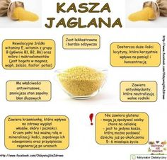 KASZA JAGLANA NA SMUKŁĄ SYLWETKĘ – NIESAMOWITE WŁAŚCIWOŚCI Home Recipes, Diet Recipes, Vegan Recipes, Fodmap Diet, Keto, Polish Recipes, Natural Medicine, Nutrition Tips, Healthy Tips