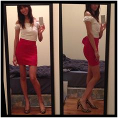 Shoes: leopard Maye with red pencil skirt and any kinda shirt that goes with your skirt  :)