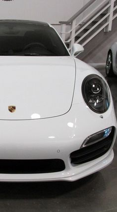 This beautiful white Porsche 911 Turbo is the perfect addition to your dream garage #spon