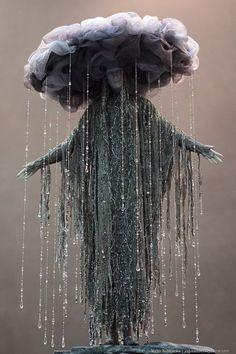 Goddess of Depression. By Victor Nazarenko - ||  Imgur. ||  This rain cloud costume is incredible.  || #Halloween Rain #Costume by Lanie
