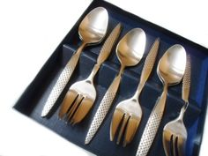 Cake Fork and Spoon Cutlery Set £17 A set of six little forks and spoons. Useful for all kinds of courses.