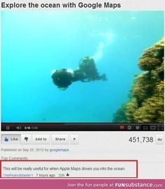 Exploring the ocean with google maps