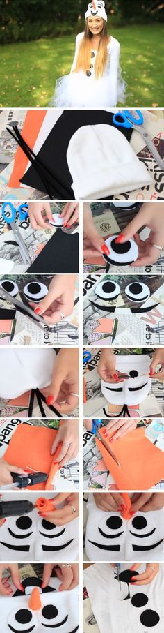 Last Minute DIY Halloween Costumes for Teens Adorable Olaf Halloween Costume Hacks, Olaf Costume, Diy Halloween Costumes For Women, Halloween Costume Accessories, Cute Costumes, Costume Ideas, Awesome Costumes, Halloween Mono, Fete Halloween