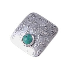 "TURQUOISE 925 SOLID STERLING SILVER PENDANT JEWELLERY SIZE 0.8"" DJP1811 #Handmade #Pendant"