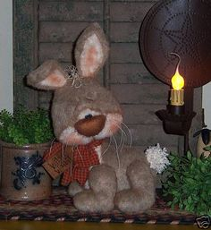 Primitive Easter Spring Bunny Rabbit Doll Pattern #559