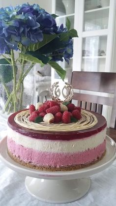 Style by Tiinamaria: Marjamoussekakku Cheesecake, Deserts, Pudding, Sweets, Food, Style, Healthy, Swag, Gummi Candy