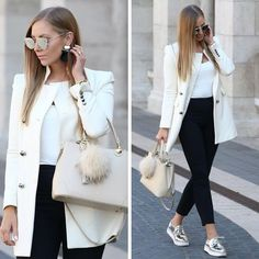Neutral and classy outfits for women – Just Trendy Girls Classy Outfits For Women, Casual Work Outfits, Casual Wear, Casual Dresses, Clothes For Women, Elegantes Outfit Frau, Mode Adidas, Look Blazer, Elegant Outfit