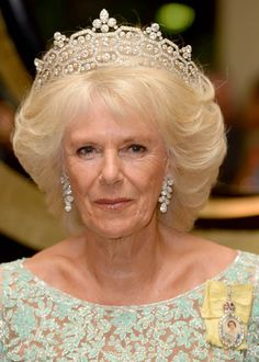 Camilla, Duchess of Cornwall dazzled in a tiara once owned by the Queen Mother at an event in Sri Lanka.