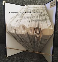 Teacher book fold