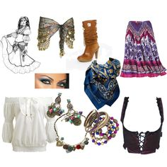 A fashion look from October 2009 featuring Wet Seal blouses, Gypsy costumes and MICHAEL Michael Kors boots. Browse and shop related looks. Rave Halloween Costumes, Up Costumes, Halloween Dress, Halloween Outfits, Costume Ideas, Gypsy Party, Find Stuff, Renaissance Fair Costume, Gypsy Costume