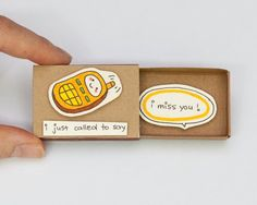 Matchbox Surprise: Matchbox with cute hidden messages to surprise your loved…
