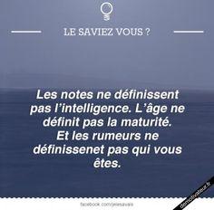 Demotivateur.fr   Le saviez-vous ? Good Quotes For Instagram, Simple Sentences, Quote Citation, Best Quotes, Coaching, Positivity, Science, In This Moment, Shit Happens