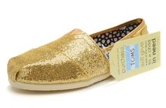 Hot Sale Gold Women's Glitters [toms-013] :$26.00