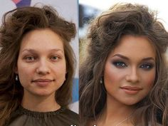 The Transformational Power of Make-Up. Trabalho perfeito.