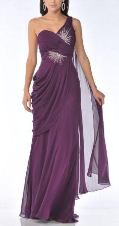 Amazon.com: Zeilei 1992 One Shoulder Chiffon Pageant Prom Dress: Clothing