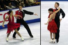 Alexa-Marie Arrotta and Martin Nickel's short dance costumes at the 2011 Canadian Nationals. (Photos by Jay Kim and David W. Carmichael)