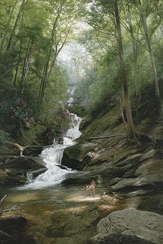 Phillip Philbeck - Altar of the Forest - This is one of more than works of art offered by ArtUSA, The World's Source for Collectible Art. Toll-free or Landscaping Near Me, Autumn Painting, Best Photographers, Nature Pictures, Amazing Nature, Beautiful Landscapes, Scenery, Art Gallery, Fine Art