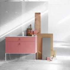 Fredrik Wallner's bathroom furniture  for Swoon can be customised online