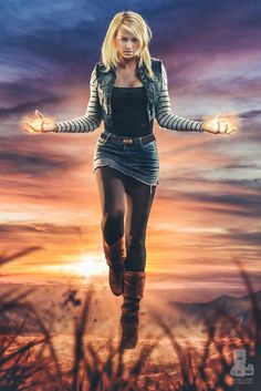Android 18 by truefd For more cosplay check out http://hotcosplaychicks.tumblr.com