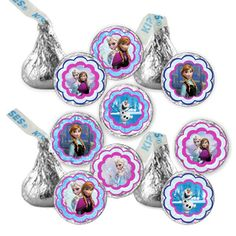Instant Download Frozen Birthday Party Hershey by DecorAtYourDoor, $3.00
