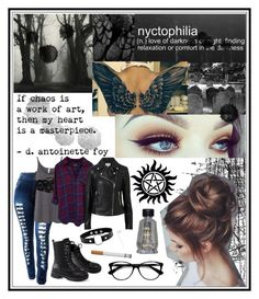 """Irene's Main Look"" by laylanovak-winchester ❤ liked on Polyvore featuring Tim Holtz, Rails, Witchery and Ace"