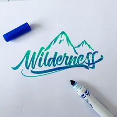 I was draw to this because of the color. On second look, I'm extra intrigued that the images implies that it was done with caryola markers! [wilderness brushpen calligraphy david milan]