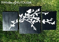 DIY Canvas Wall Art tutorial...just sketch and paint, you can do it! www.dearbeautifulyou.com