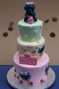 Cookie Monster Tiered by Alliance Bakery, via Flickr