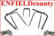 NEW 1950 s BSA C11 C10 250cc BARE METRAL FRONT REAR MUDGUARD STAYS FITTING @ CA Bsa Motorcycle, Stay Fit, Clothes Hanger, 1950s, Coat Hanger, Keep Fit, Hangers, Hangers For Clothes, Clothes Racks