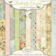 Jodie Lee Designs: FREE Butterfly Garden Papers to Download!...Hop on over to my Facebook Page - Jodie Lee Designs - to download the Butterfly Garden Printable Papers! These are sized at A4 (8.5 inch x 11 inch), so you can print them right at home!