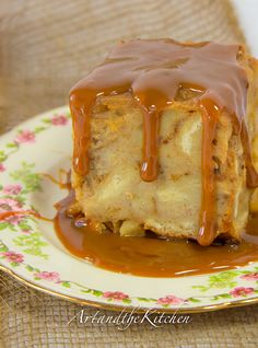 ArtandtheKitchen: Apple Bread Pudding with Dulce de Leche Sauce