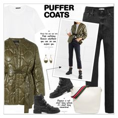 """""""Stay Warm: Puffer Coats"""" by alves-nogueira ❤ liked on Polyvore featuring Madewell, Jimmy Choo, Sara Battaglia, Acne Studios, New Directions, fashiontrend, contestentry, polyvoreeditorial and puffercoats"""