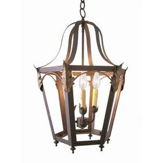 2nd Ave Design Acacia 4 Light Foyer Lantern Finish: Coffee Bean, Acrylic: Lapis Blue