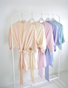 Give each of your bridesmaids a different color robe to get ready in.