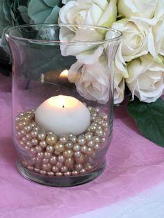 Champagne Pearl Confetti Vase Fillers 500pc Small Pearls No Holes