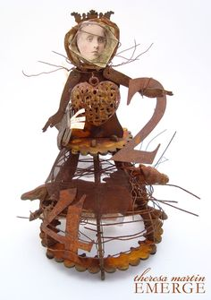 Mixed Media Santos Cage Doll by theresa mARTin  Beautiful creation with great tutorial!!!