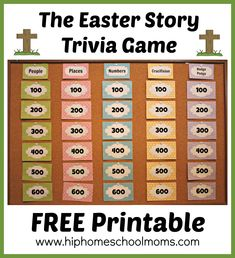 Printable Easter Story Trivia Game - My Joy-Filled Life