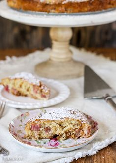 This Caramel Rhubarb Cake is a light and tender cake with fresh diced rhubarb and a generous swirl of caramel. This is a quick and easy dessert you won't want to miss!