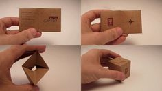 Transforming the traditional Business Card in the funny and unusual object, a little box of transporting cargo air.