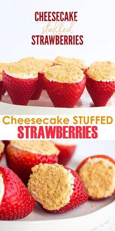 Strawberry Dessert Recipes, Strawberry Jello Shots, Strawberry Snacks, Strawberry Ideas, Strawberry Whipped Cream, Strawberry Topping, Strawberry Cookies, Easy Desserts, Lemon Desserts