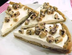 Cookie Dough Ice Cream Pizza .... Very good and easy to make! 1 roll of cookie dough... press it into a pan of your choice.... then bake until golden about 20 minutes .... cool... then spread a 1/2 gallon of ice cream on top... (I put crumbled cookies on top instead of dough) Freeze and then eat