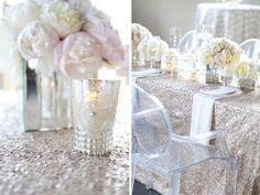 ghost chair elegant modern sequin wedding
