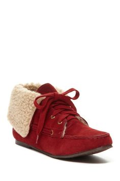 Bucco Cathy Faux Sherpa Lined Lace-Up Moccasin by Bucco on @HauteLook